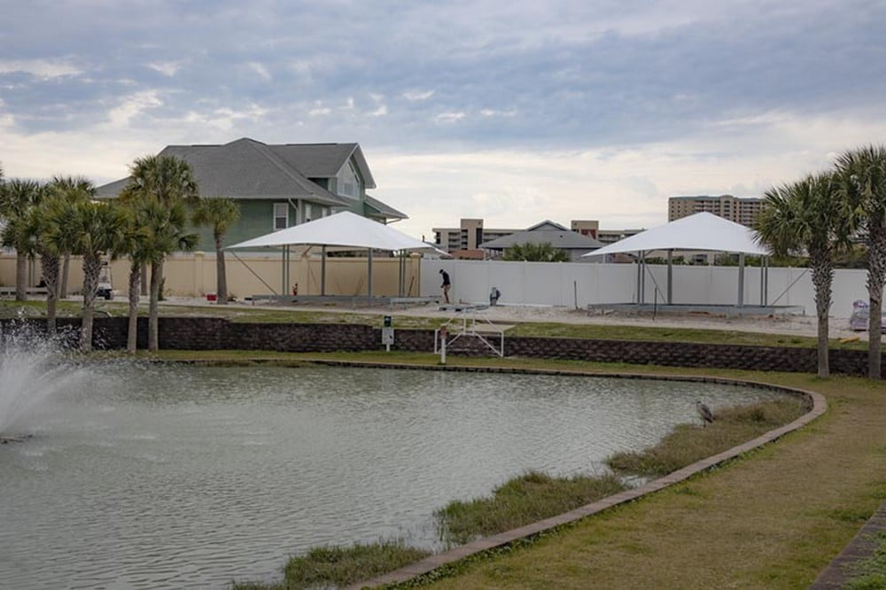 Large Glamping Tents at Camp Gulf